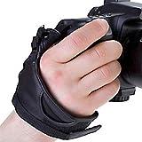 Delamax Courroie poignée cuir 3 points pour appareil photo reflex et reflex numérique Canon Nikon Sony Alpha Minolta Pentax Sigma Olympus etc Import Allemagne