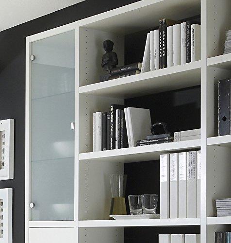 wohnwand b cherregal mit schreibtisch sideboard toleo238 lack wei com forafrica. Black Bedroom Furniture Sets. Home Design Ideas