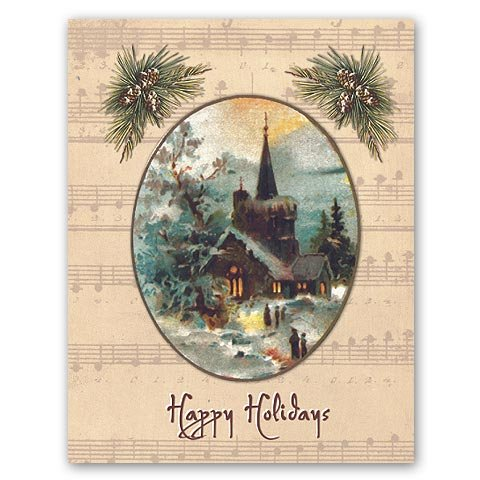 Happy Holidays - Box Set of 12 Christmas Greeting