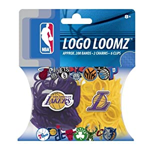 NBA Los Angeles Lakers Logo Loomz Pack by Forever Collectibles