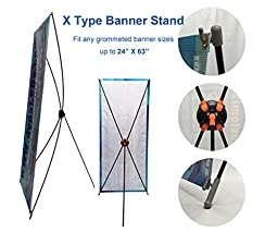 TheDisplayDeal X type Stand for Grommeted 24\
