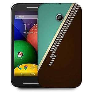 Snoogg Brown Lines Designer Protective Phone Back Case Cover For Motorola E / Moto E
