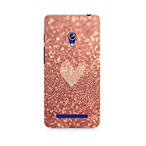 Ebby Rose Gold Sparkle Premium Printed Case For Asus Zenfone 5