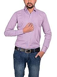 Riwas Collection Men's Formal Shirt (r-111_Purple_Large)