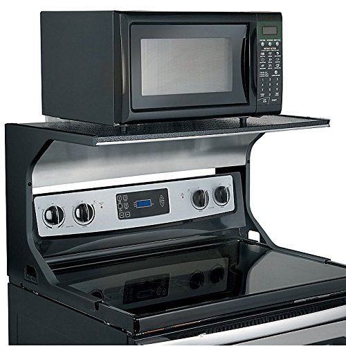 Microwave Oven Shelf Bracket - Black (Microwave Stove Top compare prices)