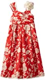 Bonnie Jean Girls 7-16 Coral Floral Print Dress, Coral, 10