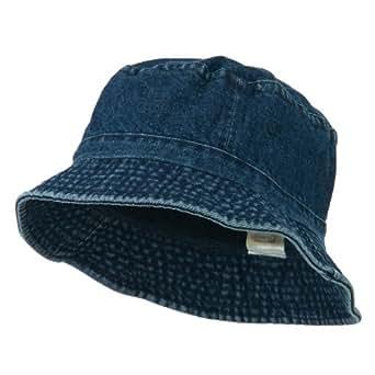 Pigment Dyed Bucket Hat-Denim W12S43E at Amazon Women's ...
