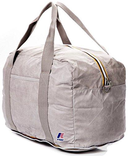 Borsone Viaggio K-way Uomo Donna Borsa Tracolla Men Women Folding Duffle Grey
