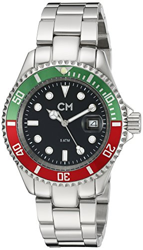 Carlo Monti - CM507-121B - Montre Homme - Quartz Analogique - Bracelet Acier Inoxydable Argent