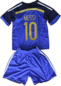 Buy FWC 2014 Lionel Messi 10 Argentina Away Futbol Football Soccer Jersey & Short FREE ARGENTINA GIFT by AFA