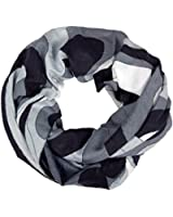 Loop Damen Schal und Tuch Schlauchtuch 'Modern Art' in Schwarz- und Weißtönen gestreift