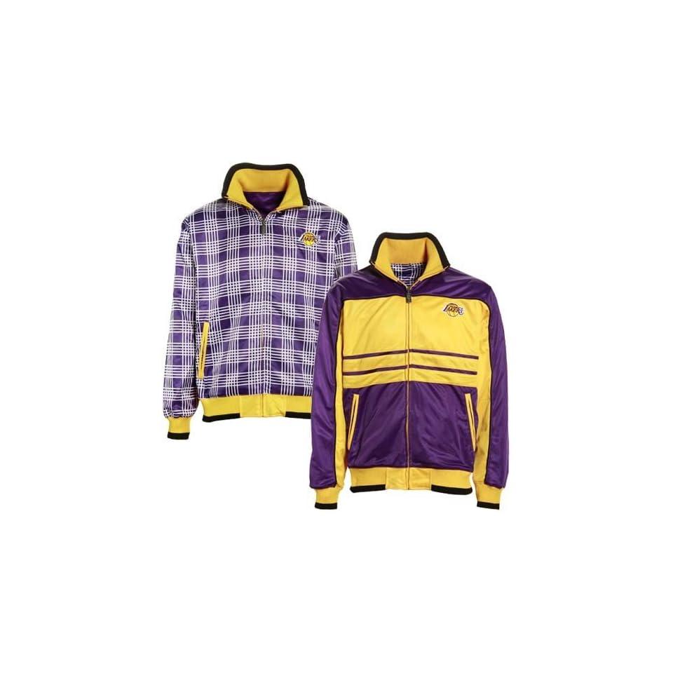 Los Angeles Lakers Purple Gold SAC Reversible Track Jacket