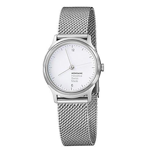 Mondaine Men's MH1.L1110.SM Helvetica No.1 Light Analog Quartz Silver-tone Stainless Steel Watch