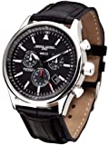 Jorg Gray Men's Swiss Movement Quartz Watch JG6500-44 with Natural Leather Strap