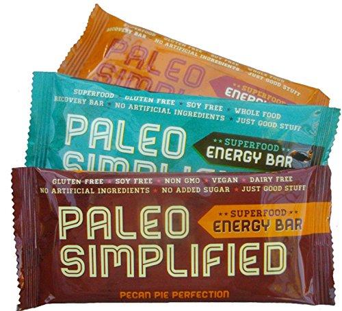 Paleo Energy Bar, Paleo Simplified, 3 Flavor Sampler Pack