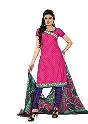 Khushbu Textile Women's Cotton Unstitched Salwar Suit (9017_Multicolor_Free Size)