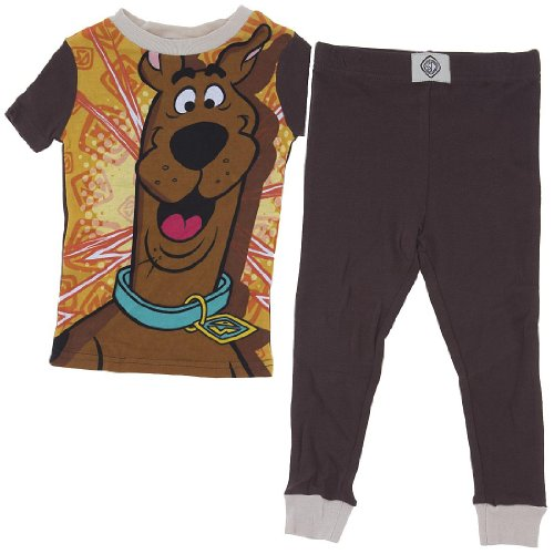Scooby Doo Cotton Pajamas For Boys 4 front-570099