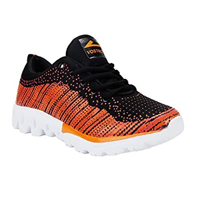 Vostro VSS0015-Flyknit Girl-Orange Sport Shoes For Women Size - 3 UK