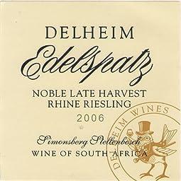 2006 Delheim Noble Late Harvest 375 mL