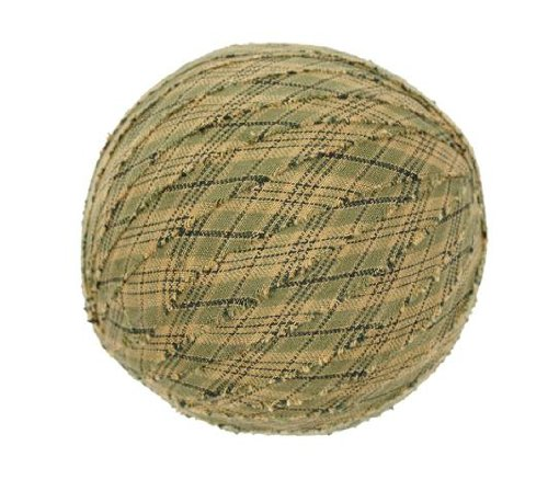 "Tea Cabin Decorative Fabric Ball #4, 4"" Diameter, Sold As Set Of 3"