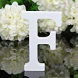 Totoo Decorative Wood Letters, Hanging Wall 26 Letters Wooden Alphabet Wall Letter for Children Baby Name Girls Bedroom Wedding Brithday Party Home Decor-Letters (F)