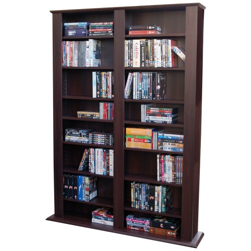 GENESIS - Multimedia CD DVD Blu-ray Storage Shelves - Dark Oak