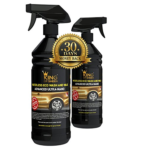 king-of-sheen-waterless-car-wash-and-wax-car-cleaner-with-carnauba-wax-2litres-2-x-1litre-bottles-ec