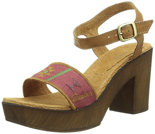 BunkerLuz 3 11 - Sandali Donna , Rosso (Rouge (Tan Red)), 38