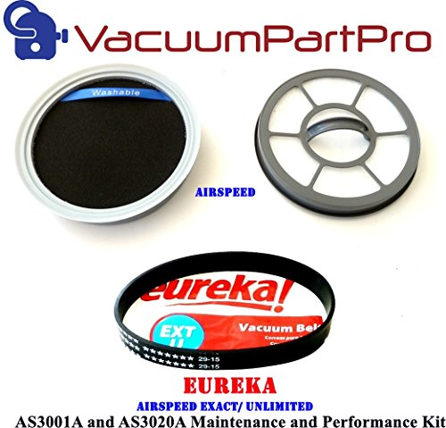 Eureka AirSpeed Exact/Unlimited Rewind AS3001A and AS3020A Maintenance Kit By Vacuum Part Pro (Airspeed Direct Rewind compare prices)