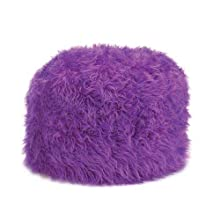 Home Locomotion Fuzzy Ottoman Orchid Pouf