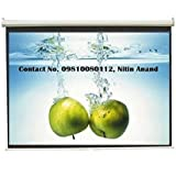Inlight Wall Type Pull Down Spring Action Projector Screen, Size: - 92 Inches Diagonal Length(80 Inches X 45 Inches...