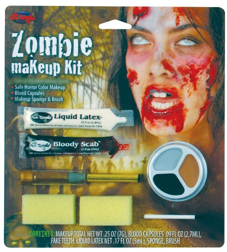 Fun World Scary Zombie Wound Halloween Costume Makeup Kit