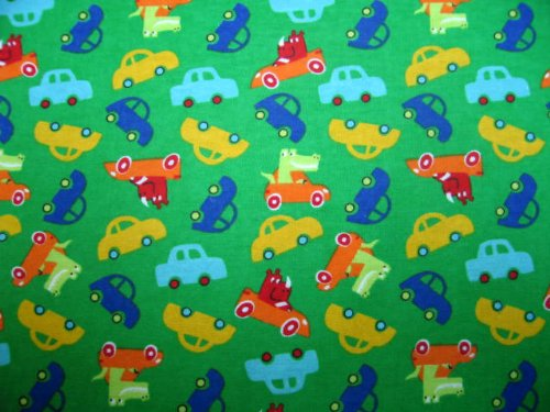 SheetWorld Crib / Toddler Sheet - Play Cars - Made In USA