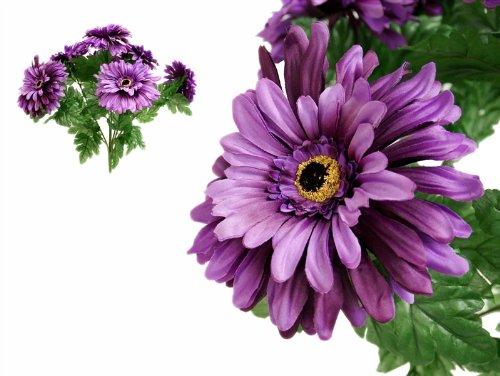 28 LRG Purple Silk GERBERA Daisy Wedding Flowers Bushes