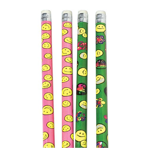 Neon Smiley Face Pencils