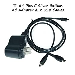 TI-84 Plus C Silver Edition Charger Power Adapter With 2 USB