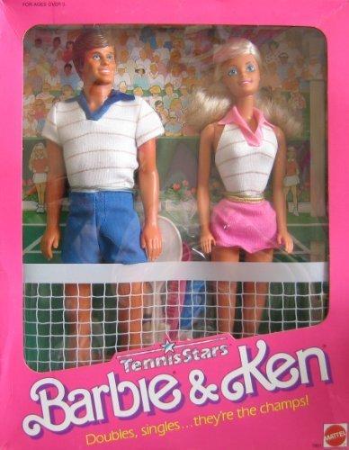 Vintage Barbie & Ken Tennis Stars Dolls w Tennis Accessories (1988 Mattel Hawthorne) by Mattel Hawthorne, made in Malaysia kaufen