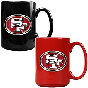 NFL San Francisco 49ers Two Piece Ceramic Mug Set - Primary Logo by Great American Products