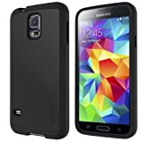 LUVVITT® ULTRA ARMOR Samsung Galaxy S5 Case | Double Layer Shock Absorbing Case for Samsung Galaxy S5 SV ( Retail Packaging) - Black / Black