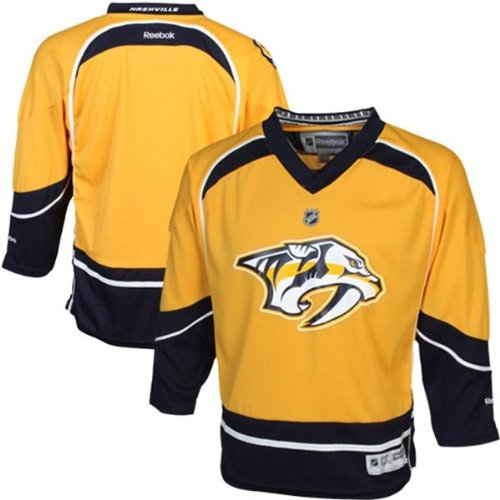 Nhl Reebok Nashville Predators Hockey Jersey Boys Size 4-7 Yellow front-985068