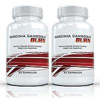 Garcinia Cambogia Burn (2 Bottles) - Clinical Strength Garcinia Cambogia Weight Loss Supplement. 750mg per Capsule (50% HCA) - 60 Capsules per Bottle