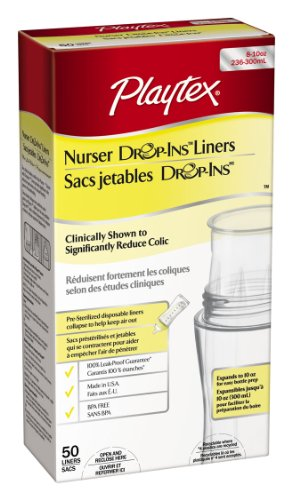 Playtex Drop-Ins Pre-Sterilized Disposable Liners 8-10 Oz: 50 Count front-965031