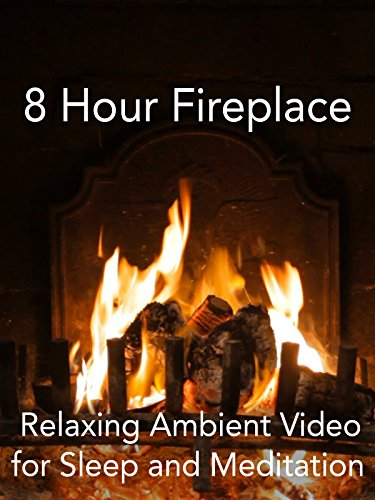 8 Hour Fireplace Relaxing Ambient Video for Sleep and Meditation