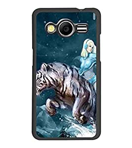 PRINTSWAG TIGER GIRL Designer Back Cover Case for SAMSUNG GALAXY CORE 2 G355H