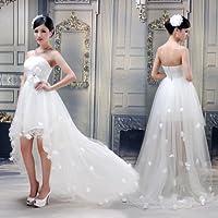 ウェディングドレス.ドレス.Aライン.プリンセス.スレンダー.エンパイア.結婚式.演奏会.二次会.ウエディングドレス.ブライダルHS1250 Mサイズ
