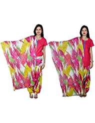 IndiWeaves Women's Cotton Patiala Salwar With Dupatta Combo (Pack Of 2 Salwar With Dupatta)