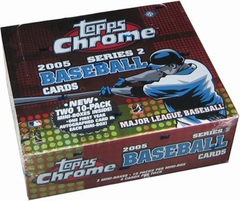 2005 Topps Chrome Baseball Series 2 Hobby Box (2 autographs per box)