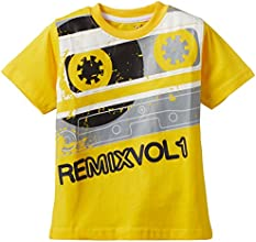 Joshua Tree Boys' T-Shirt (JT_TEE_B06-V_Yellow_7-8 years)