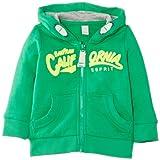 ESPRIT Baby - Jungen (0-24 Monate) Kapuzenpullover Sweatshirtjacke, Gr. 74, Grün (CLOVER GREEN)