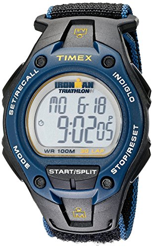 timex-mens-t5k413-ironman-classic-30-oversized-black-blue-fast-wrap-velcro-strap-watch